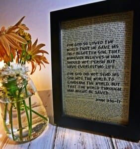 Bible Verse Art Print John