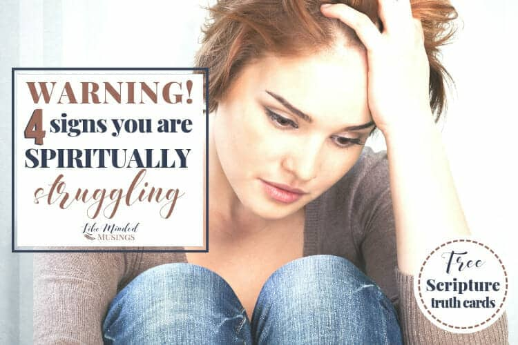 Warning! 4 Signs You Are Spiritually Struggling