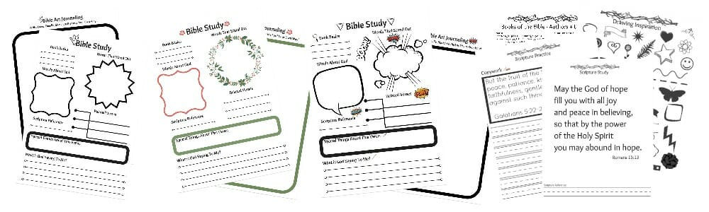 Bible Study And Art Journaling Printable Pic