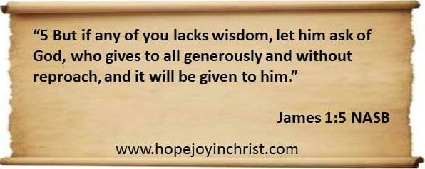 James 1 5 Pray for Wisdom