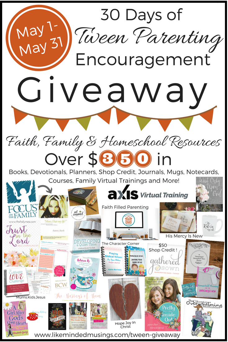 30 Days of Tween Parenting Giveaway Like Minded Musings