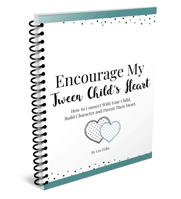 Spiral Cover Encourage My Tween Child's Heart Character Building Printable Pack