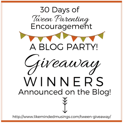 Thank You! 30 Days of Tween Parenting Encouragement Blog Party!