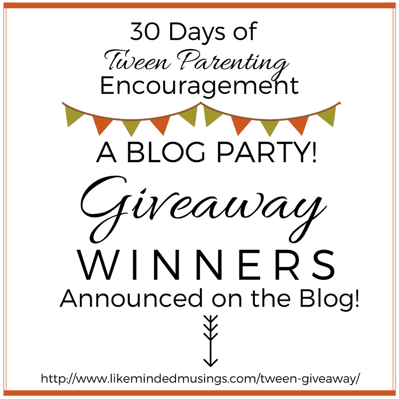 Thank You! 30 Days of Tween Parenting Encouragement Blog Party!   Like Minded Musings