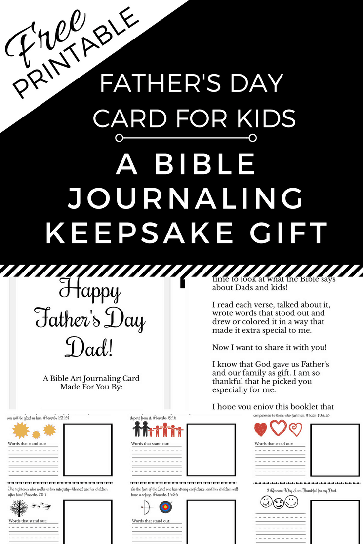 Free Printable Father S Day Card Bible Journal A Keepsake Gift