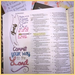 The Holy Mess Trust In The Lord Bible Journaling Kit on Like Minded Musings