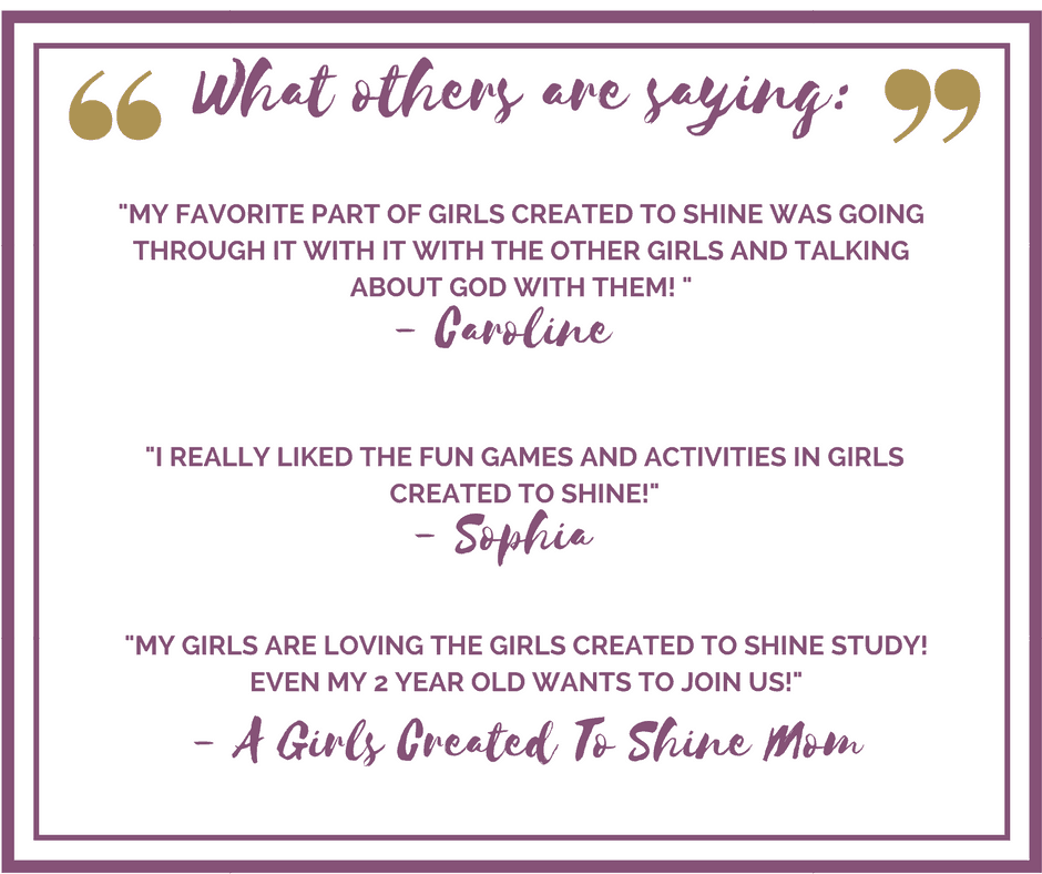 Girls Created to Shine: Equipping Tween Girls to Pursue Their Identity in Christ | Like Minded Musings