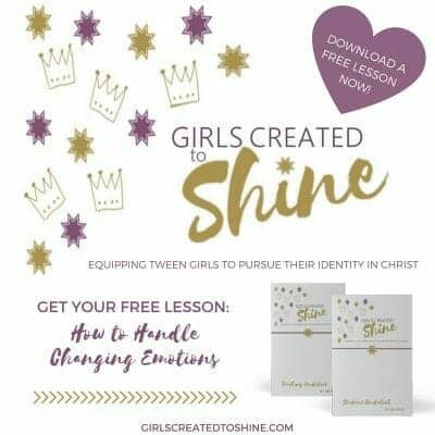 Girls Created to Shine: Equipping Tween Girls to Pursue Their Identity in Christ