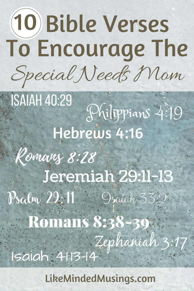 Biblical Encouragement For The Special Needs Mom {Guest Post} | Like Minded Musings