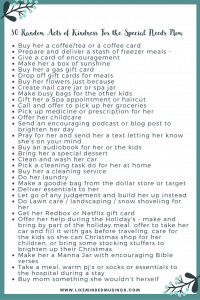 30 Random Acts of Kindness For the Special Needs Mom {Guest Post} | Like Minded Musings
