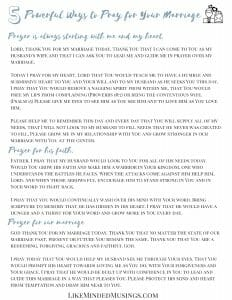 5 Powerful Ways to Pray For Your Marriage