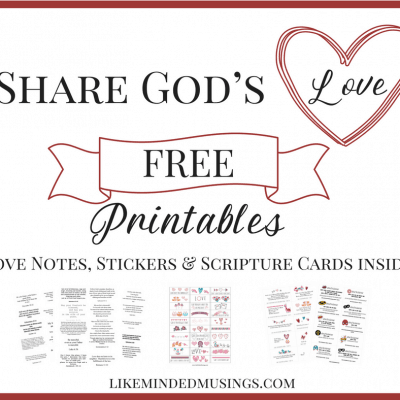 FREE Printables: God's Love Notes, Stickers & Scripture Memory Cards!