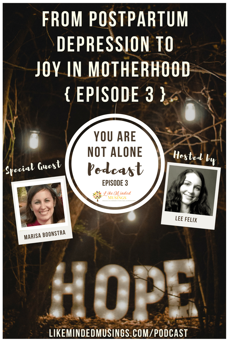 You are not alone podcast DEPRESSION - EPISODE 3 Like Minded Musings Called to Mothering
