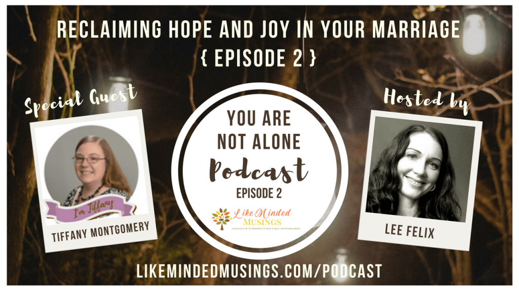 Reclaiming Hope and Joy in Your Marriage - You Are Not Alone Episode 2 | Like Minded Musings
