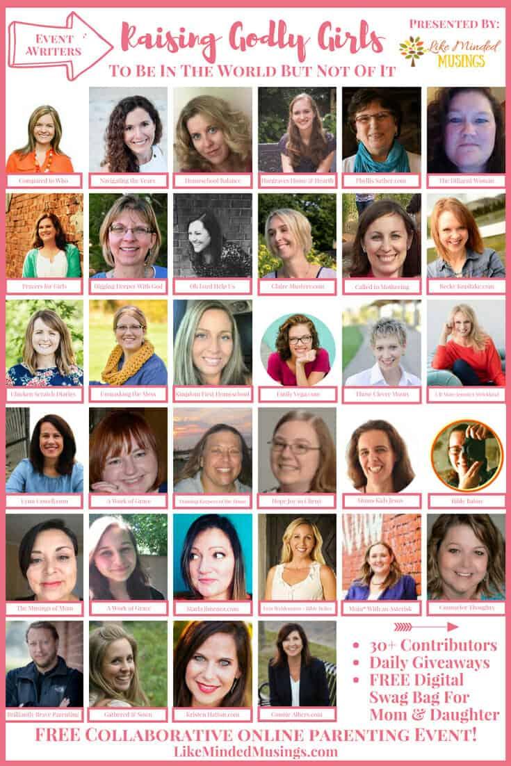 Pinterest Event Writers Raising Godly Girls on Like Minded Musings