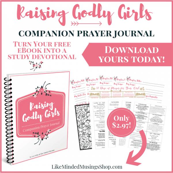 Raising Godly Girls Image Peek Optional Companion Prayer Journal on Like Minded Musings