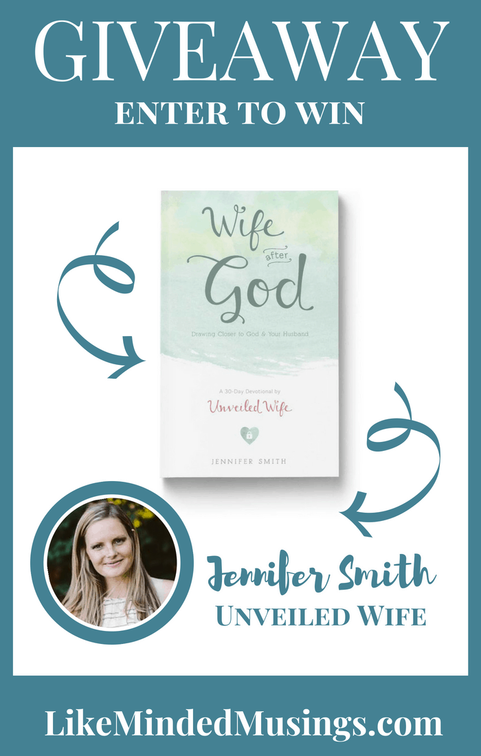 Giveaway Wife After God Like Minded Musings Hope Joy in Christ