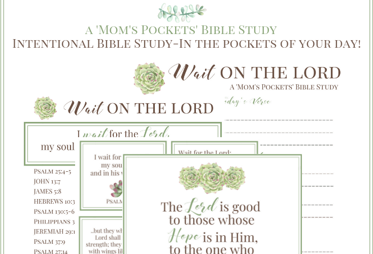 How to Wait on God Intentional Bible Study-In the pockets of your day
