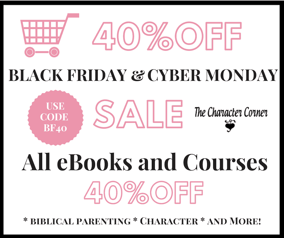 40 off ebooks and online courses The Character Corner