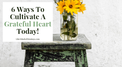 6 Ways to Cultivate a Grateful Heart Today Like Minded Musings. Join us for a Gratitude Challenge!