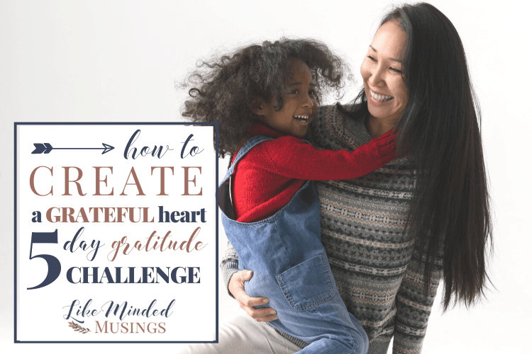 Happy Mom and child How to Cultivate a Grateful Heart Gratitude Challenge on Like Minded Musings