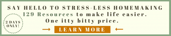 Stress Less Homemaking Ultimate Homemaking Bundle Banner Like Minded Musings