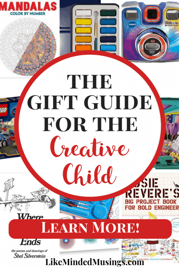 20 Wonderful Gifts for the Creative Child Gift Guide Featured Like Minded Musings #giftguide #christmas #parenting #kidsgifts