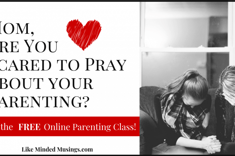 Are you scared to pray about your Parenting Free Parenting Class Like Minded Musings