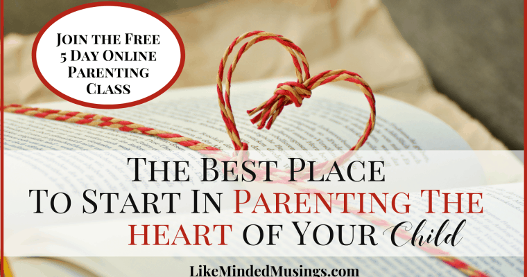 The Best Place To Start In Parenting The Heart Of Your Child