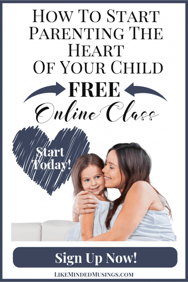 Find Out How To Start Parenting The Heart Of Your Child in this Free Online Parenting Class on Like Minded Musings. Sign Up Today!