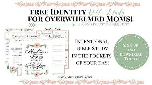 Moms Pockets Intentional Bible Study My Identity in Christ Mom's