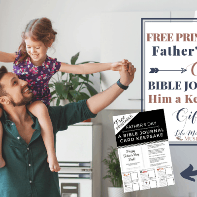 Free Printable Father's Day Card – Bible Journal a Keepsake Gift!