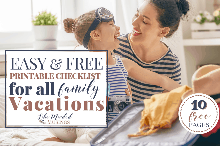 Family Travel Checklist Like Minded Musings featured