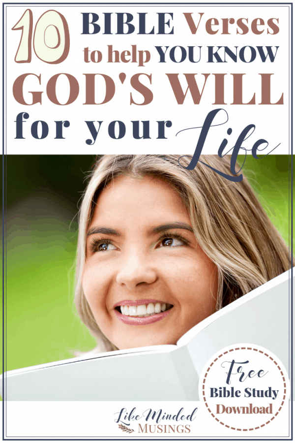 Woman Smiling with book 10 Bible Verses to Know God's Will