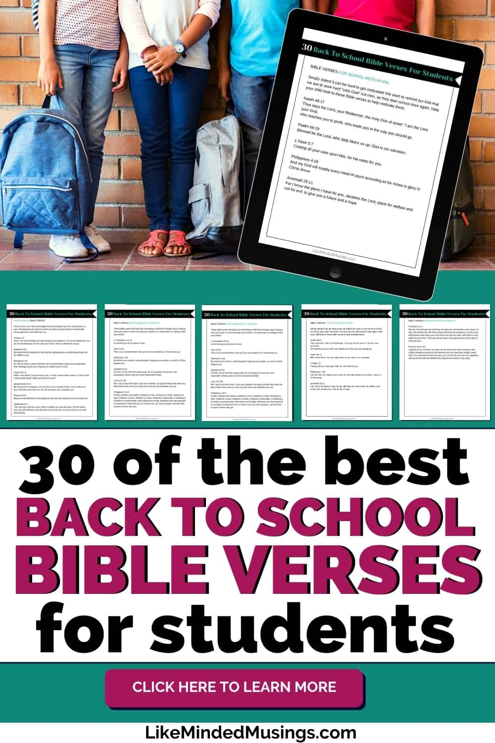 Pictures of the 30 of the Best Back to School Bible Verses For Students